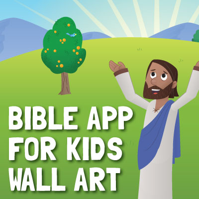 Bible App for Kids Wall Art