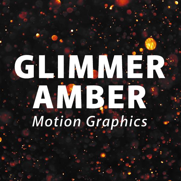 Glimmer Amber Motion Background