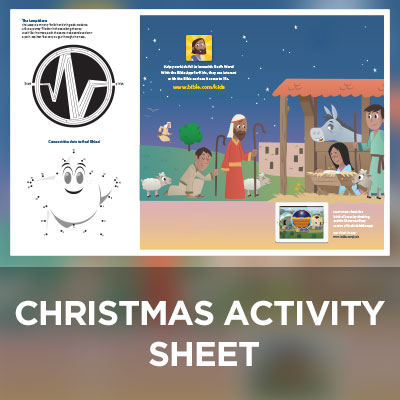 Kids Christmas Activity Sheet