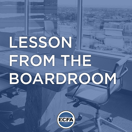 ECFA - Lesson from the Boardroom