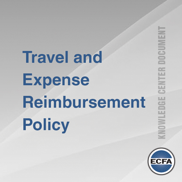 Travel and Expense Reimbursement Policy for Churches [Knowledge Center Document]