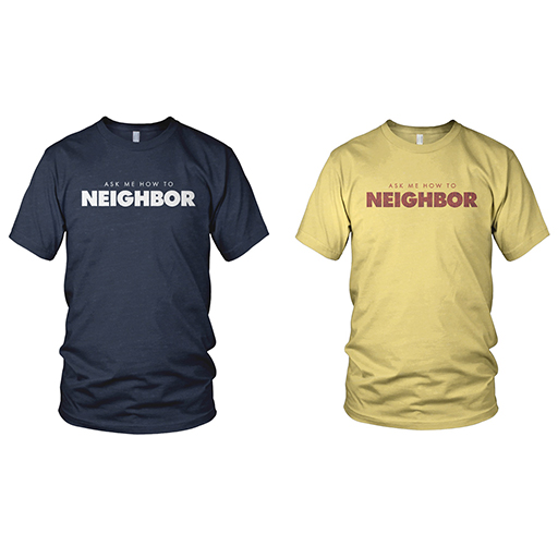 """How To Neighbor"" Shirt Art"