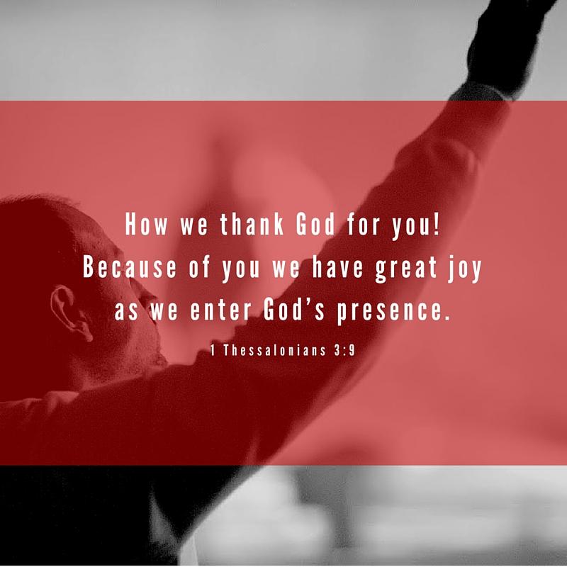 1 Thessalonians 3:9