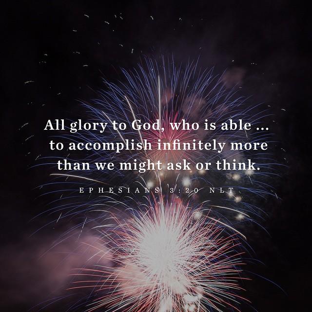 Ephesians 3:20 NLT