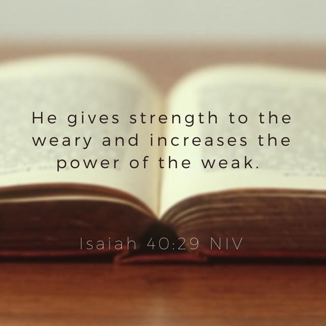 Isaiah 40:29 NIV