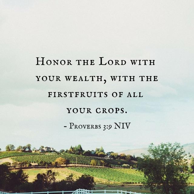 Proverbs 3:9 NIV