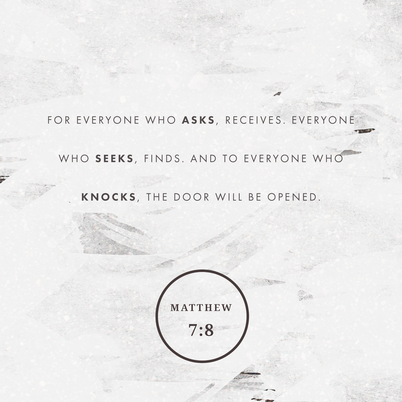 Matthew 7:8