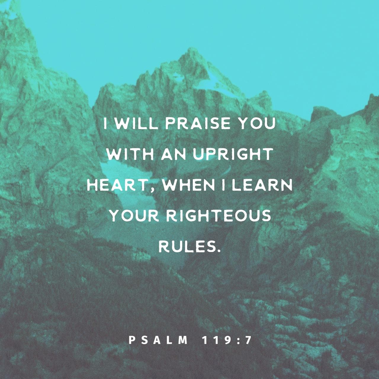 Psalm 119:7