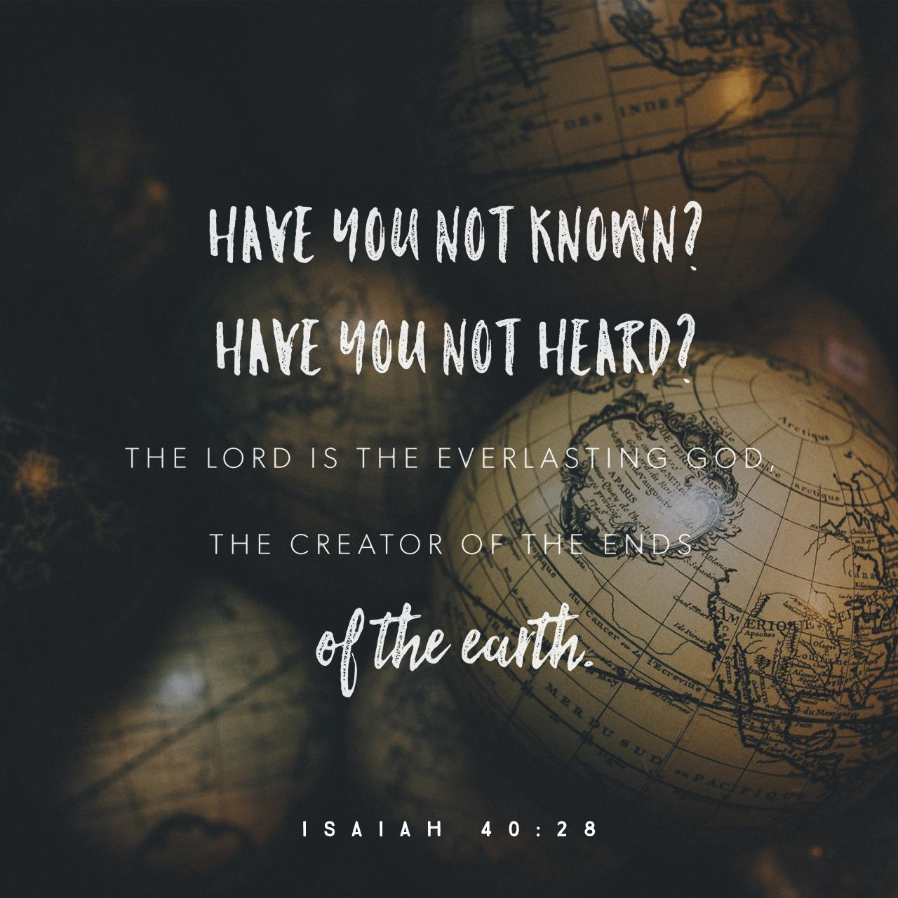 Isaiah 40:28