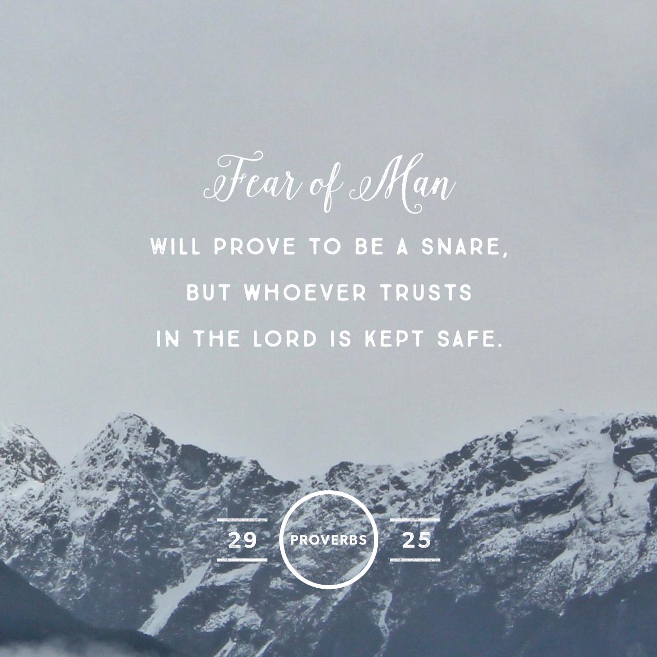 Proverbs 29:25