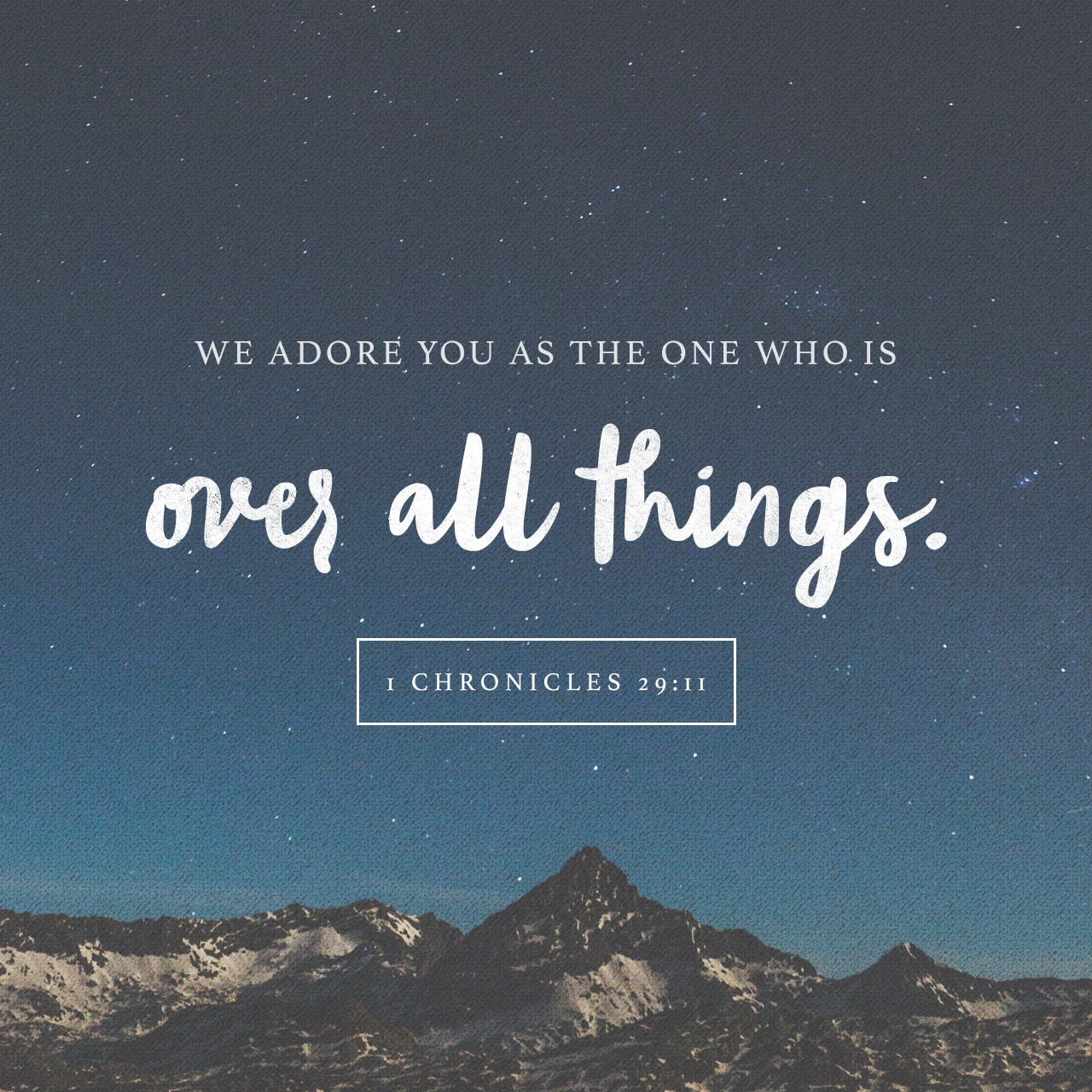 1 Chronicles 29:11