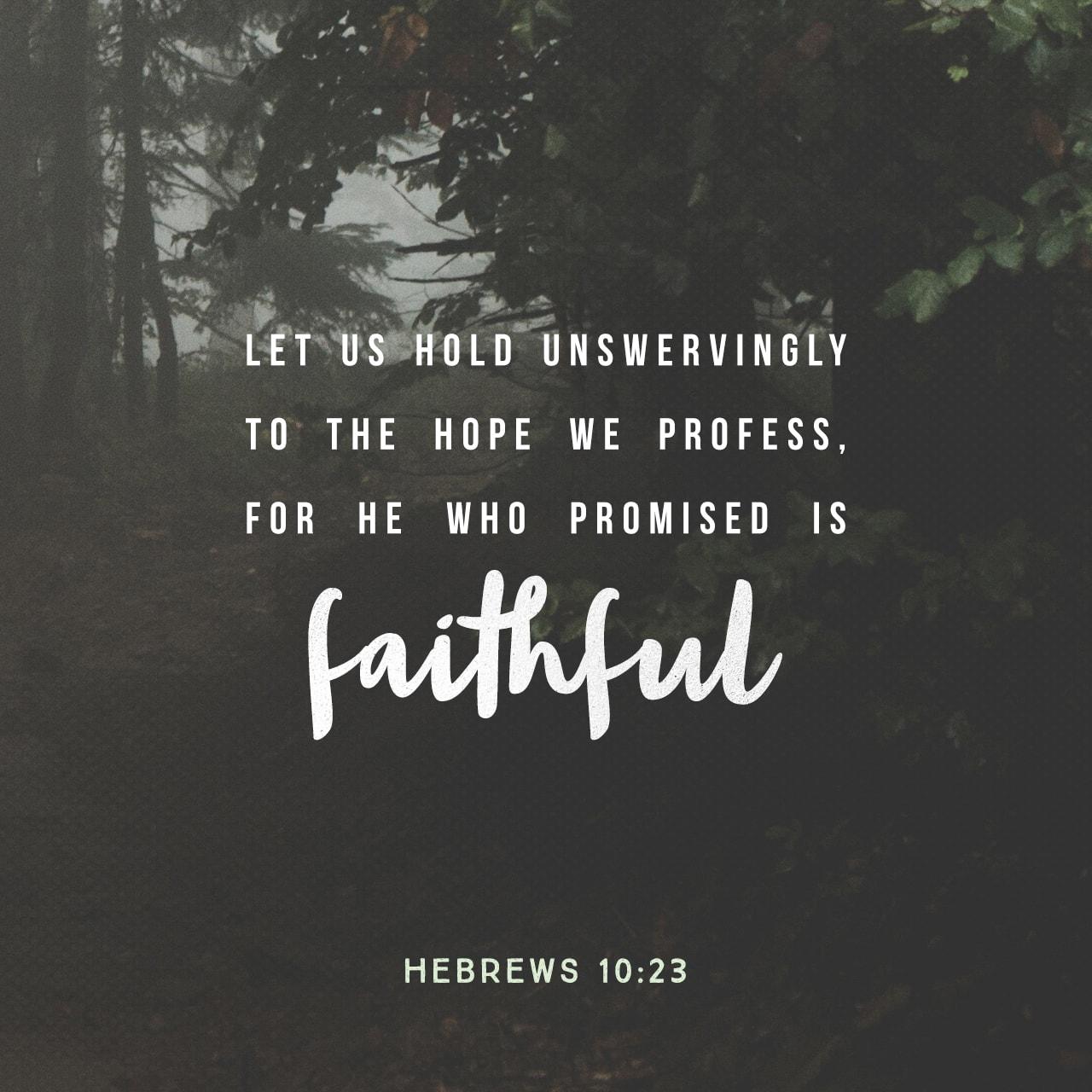 Hebrews 10:23