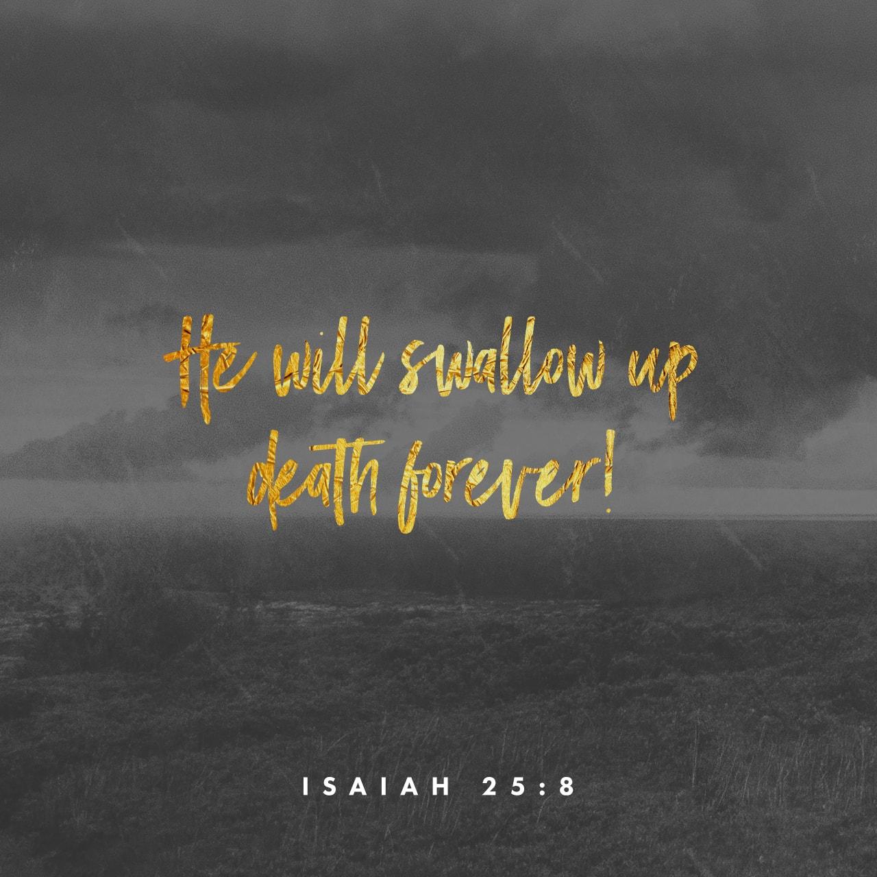 Isaiah 25:8