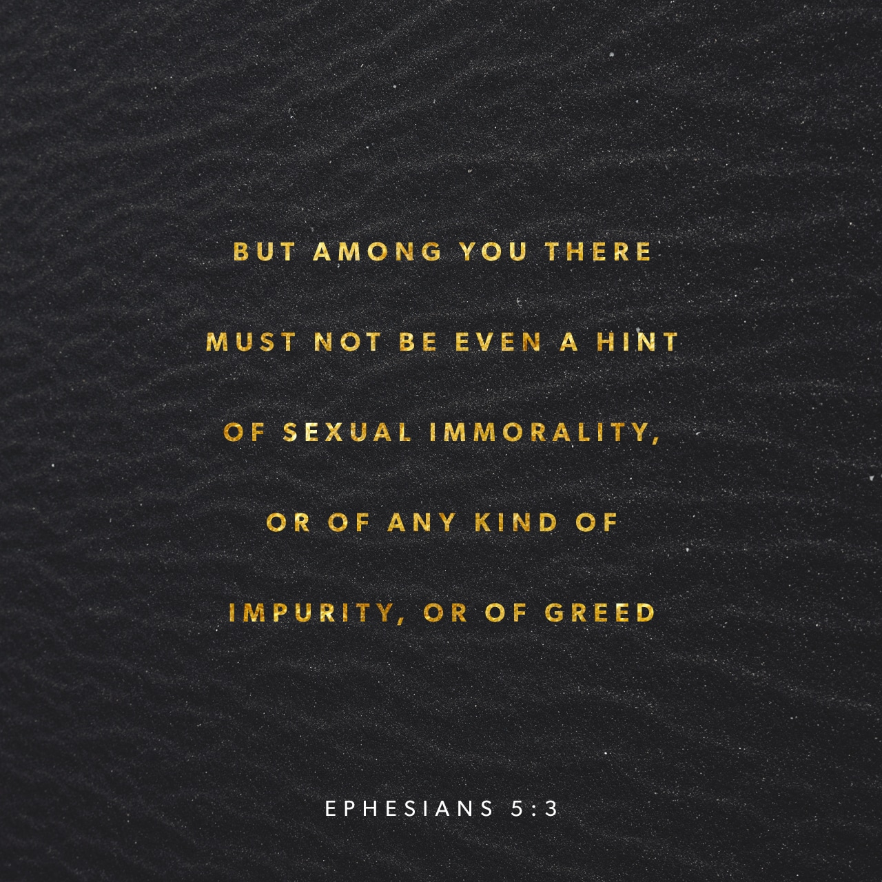 Ephesians 5:3