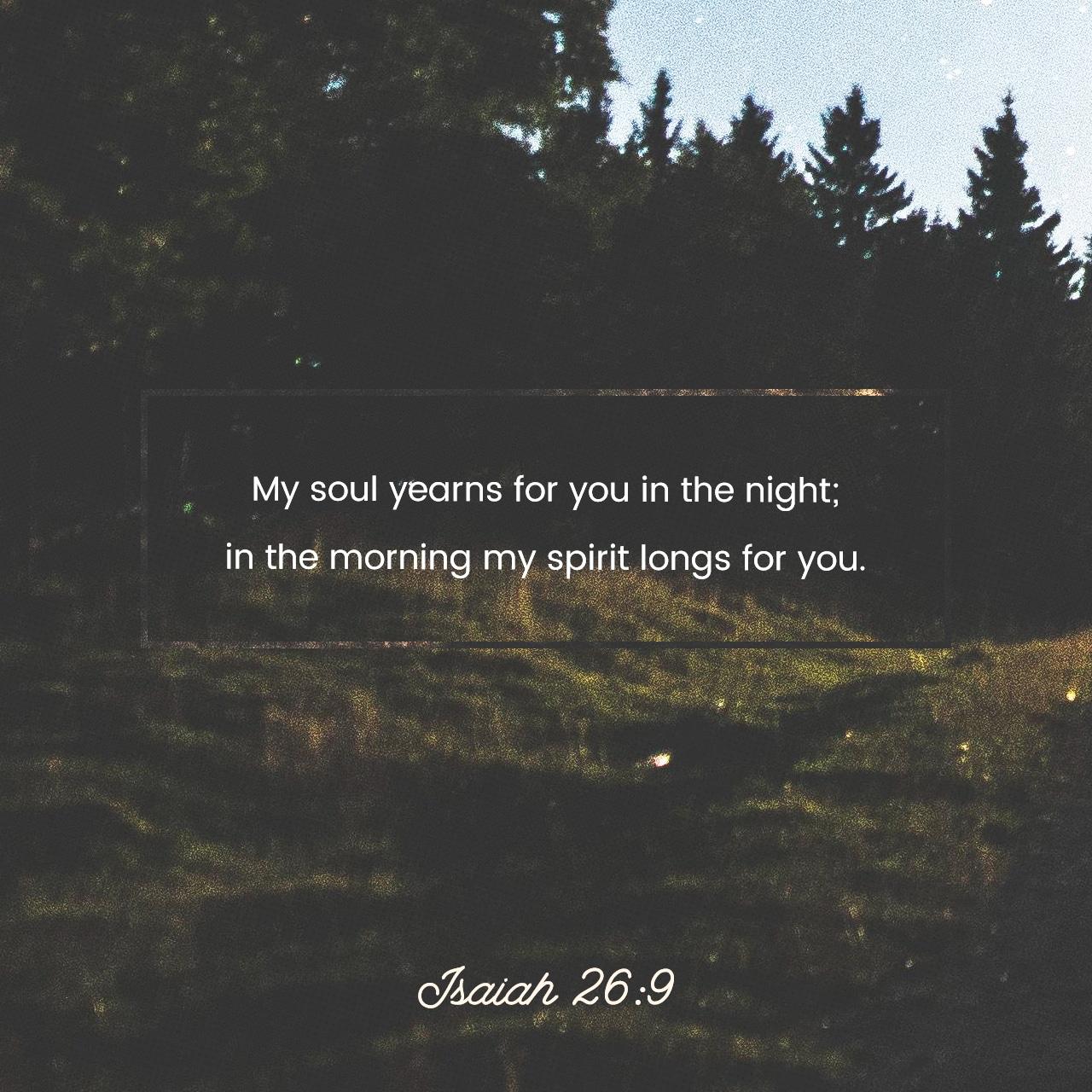Isaiah 26:9
