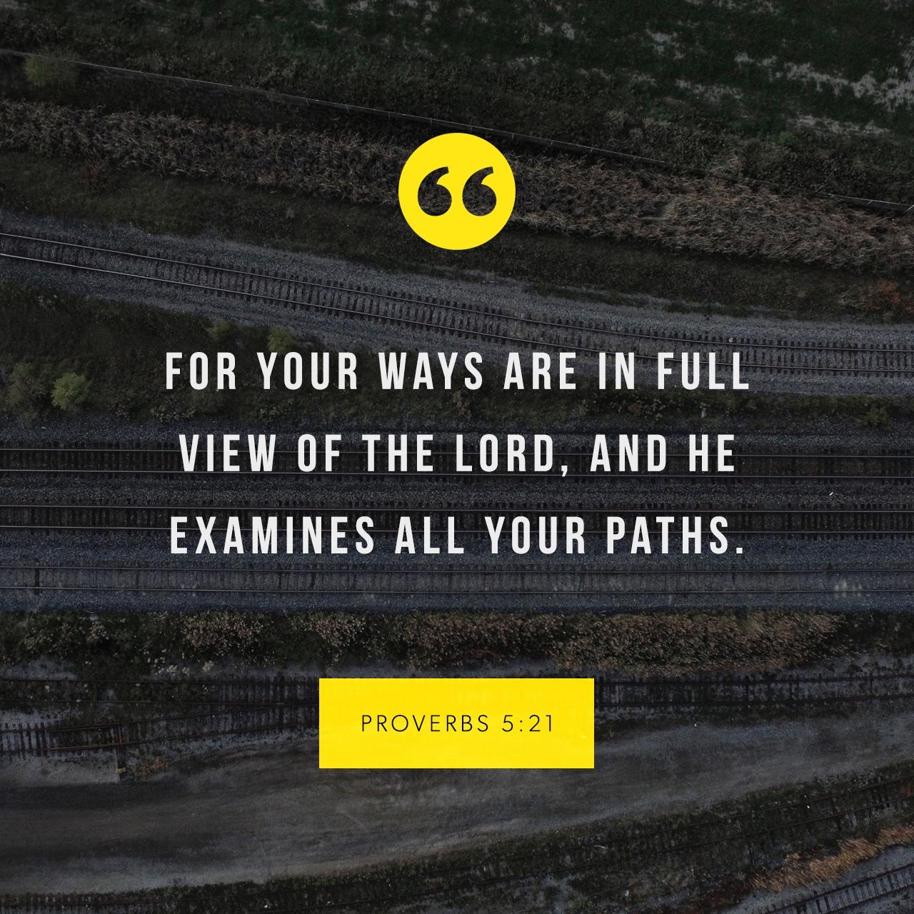 Proverbs 5:21