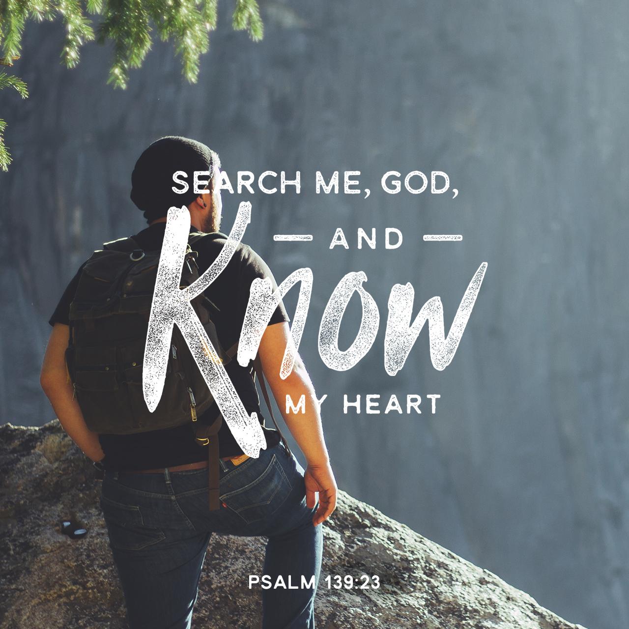 Psalm 139:23 | Creative | Scripture Art | Free Church
