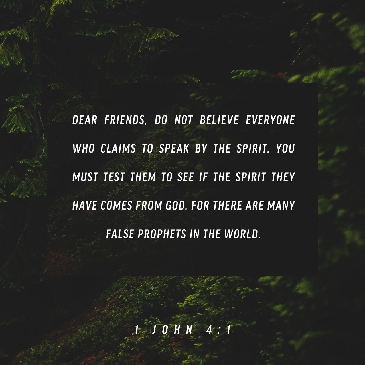 1 John 4:1