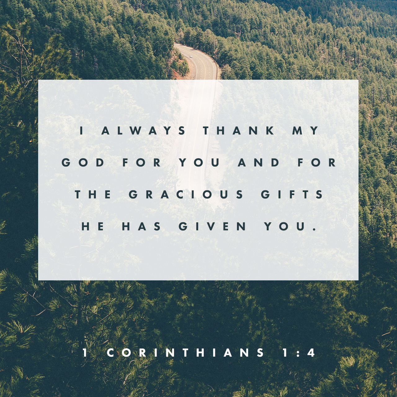 1 Corinthians 1:4