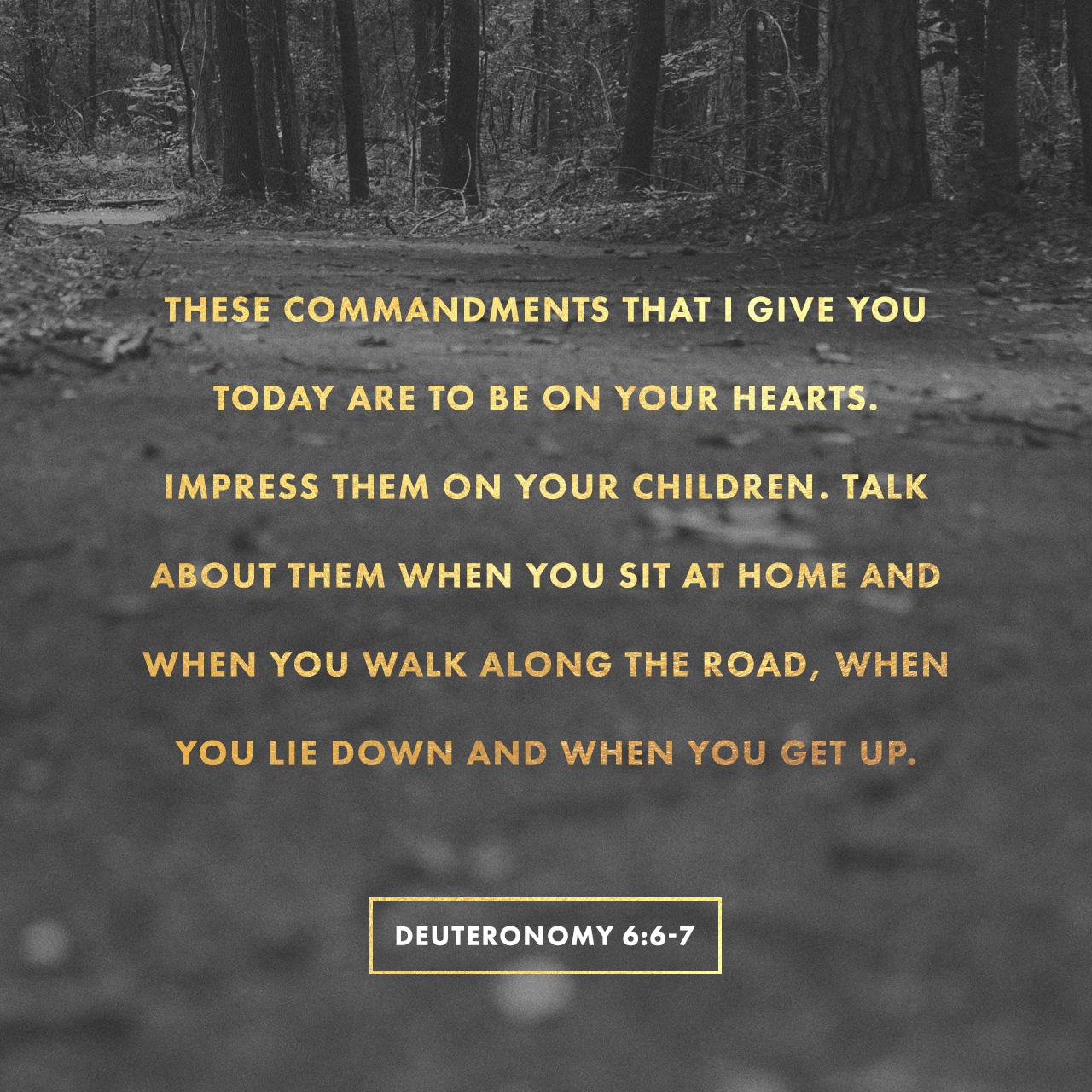Deuteronomy 6:6