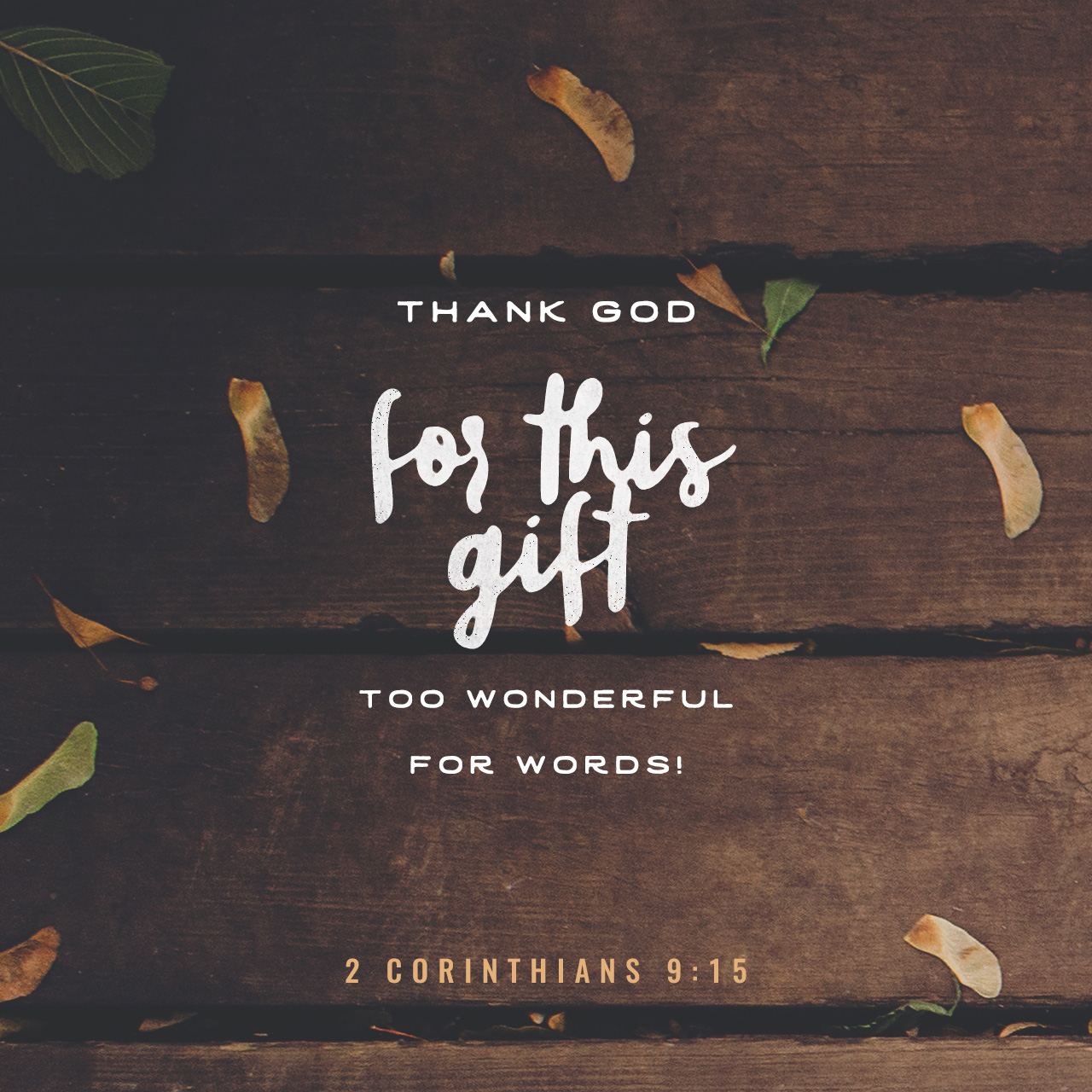 2 Corinthians 9:15