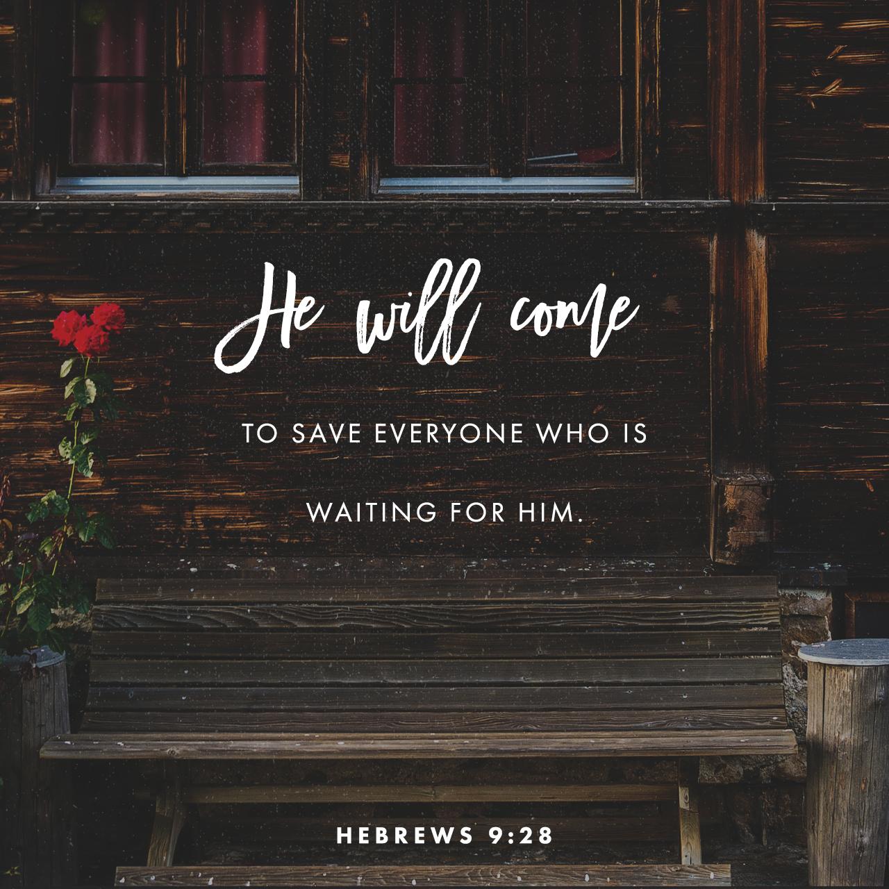 Hebrews 9:28