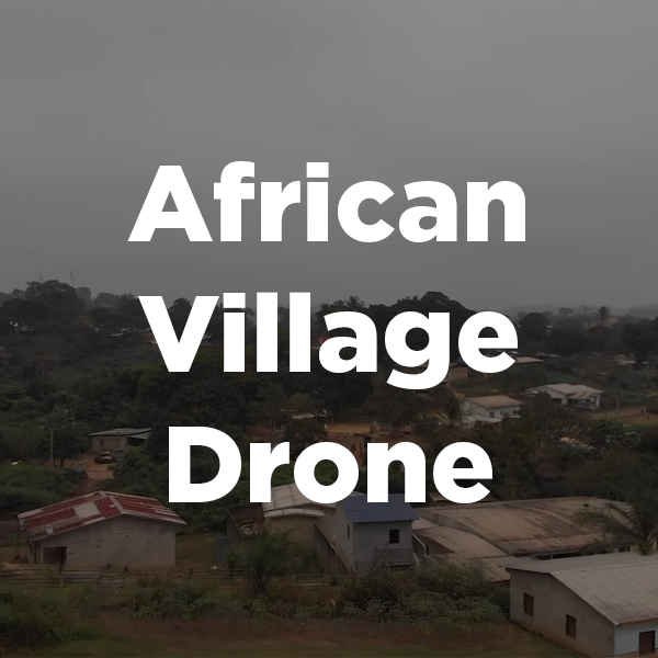 Stock Videography: African Village Drone