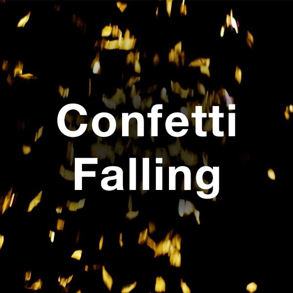 Stock Videography: Confetti Falling