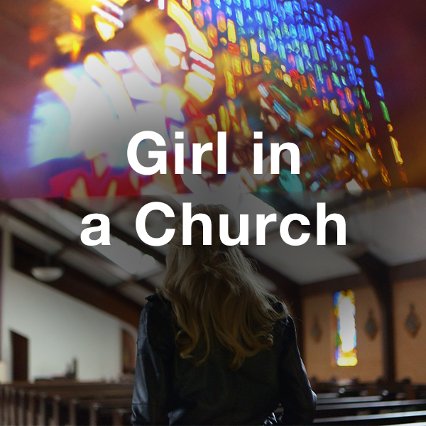 Stock Videography: Girl in a Church