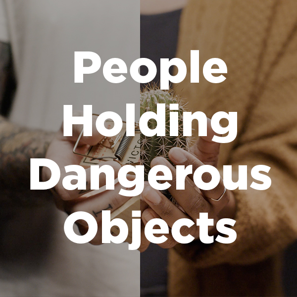 Stock Videography: People Holding Dangerous Objects