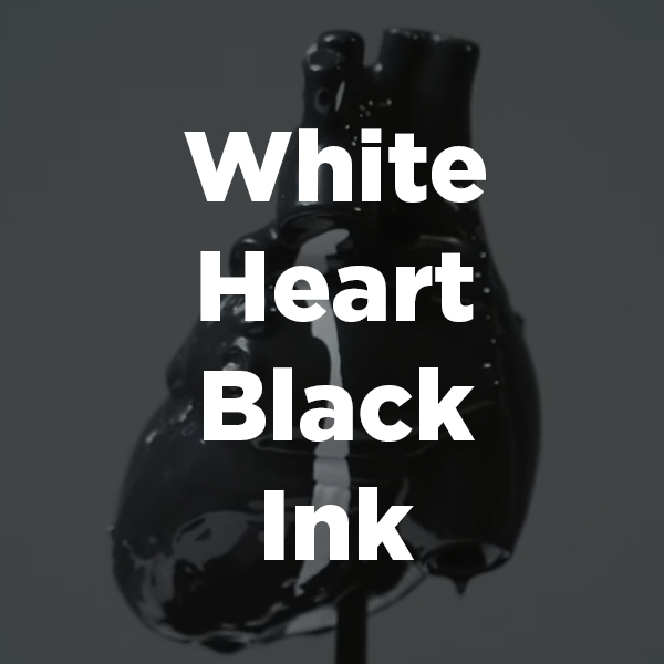 Stock Videography: White Heart Black Ink