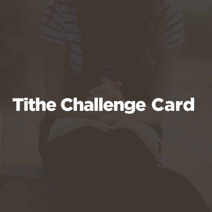Tithe Challenge Card