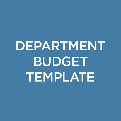 Department Budget Templates