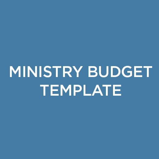 Ministry Budget Template