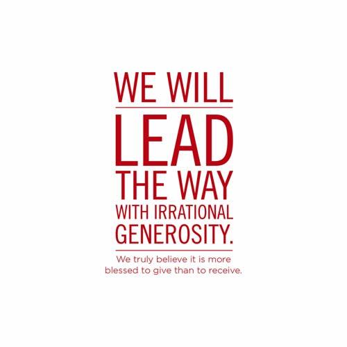 Irrational Generosity (PSD)