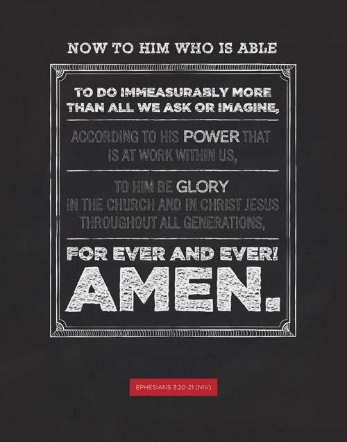 Ephesians 3:20-21 (PSD)