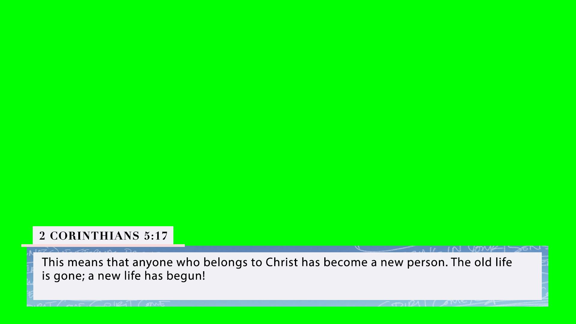 2 Corinthians 5:17 (PSD)