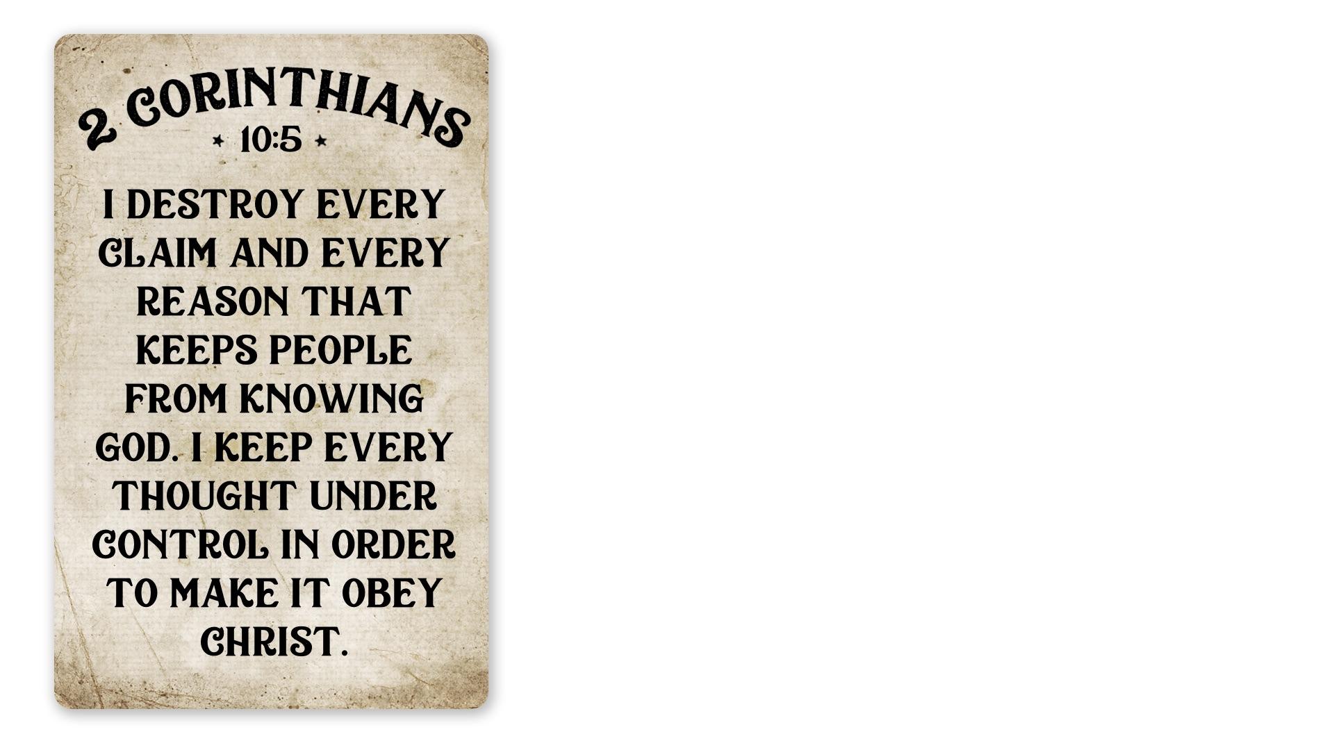 07 - 2 Corinthians 10:5 (PNG)