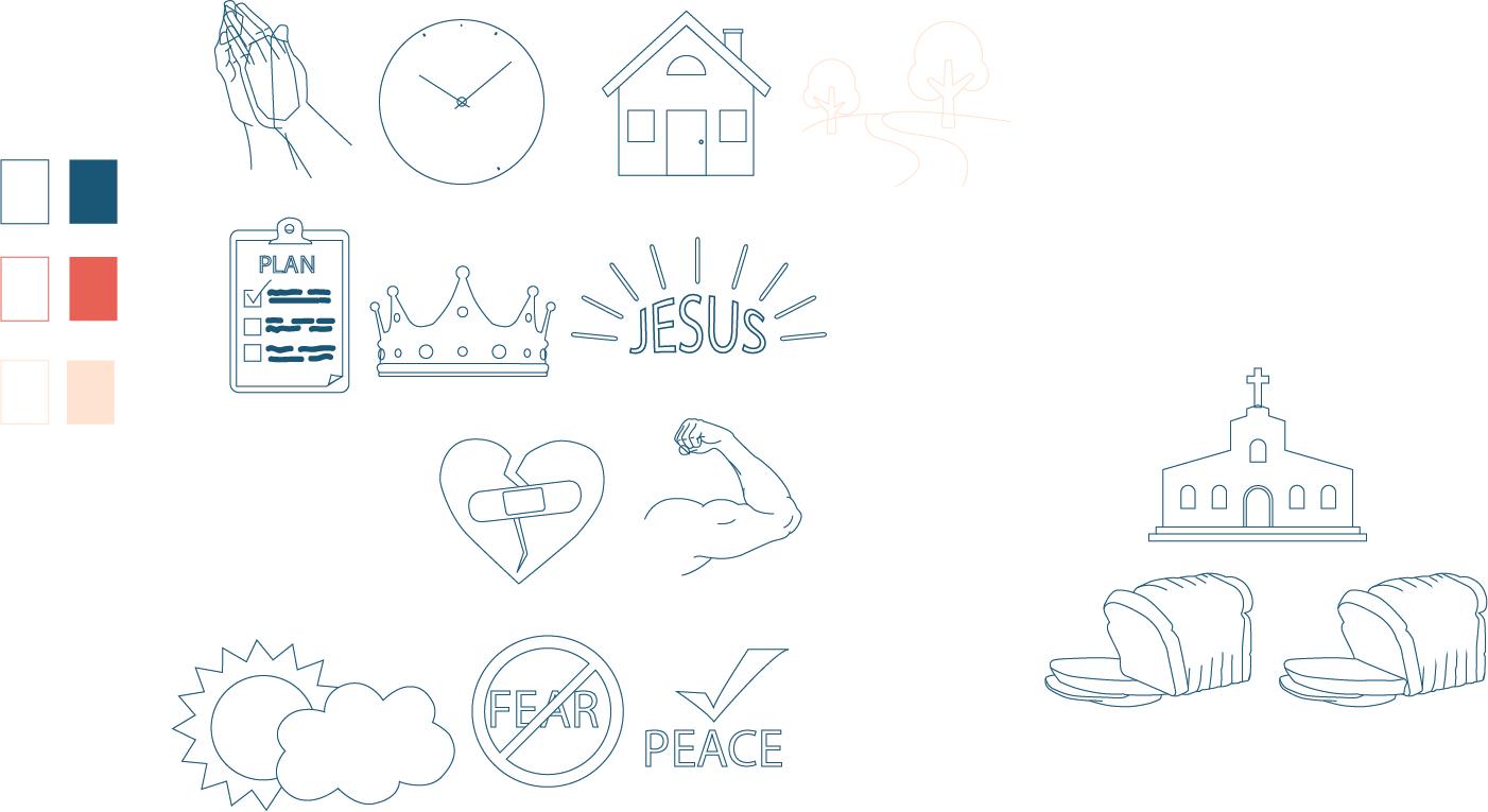 Kids Prayer Journal Images - Blue (AI)
