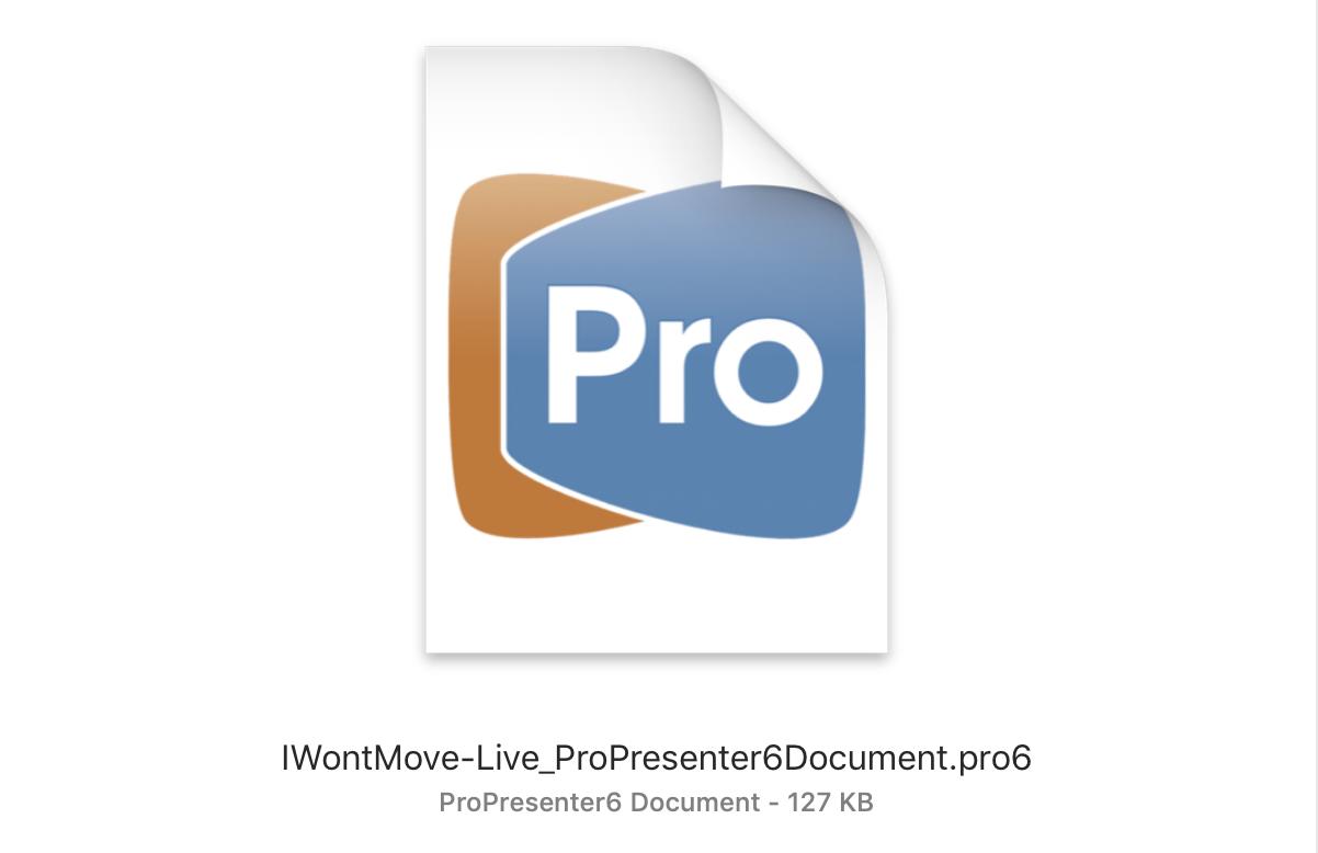 ProPresenter Document (.pro6)