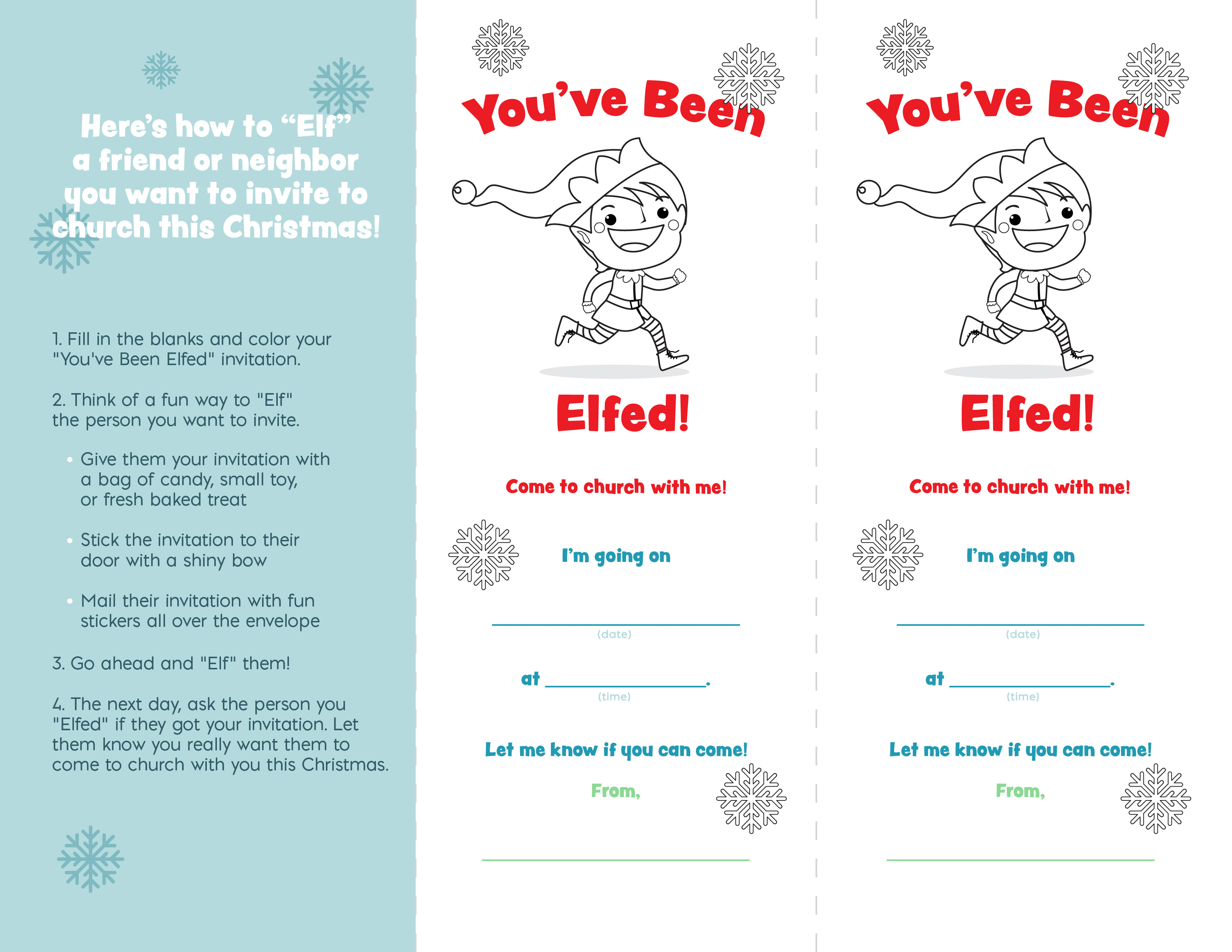 You've Been Elfed Flyer - Grades K-5 (JPG)