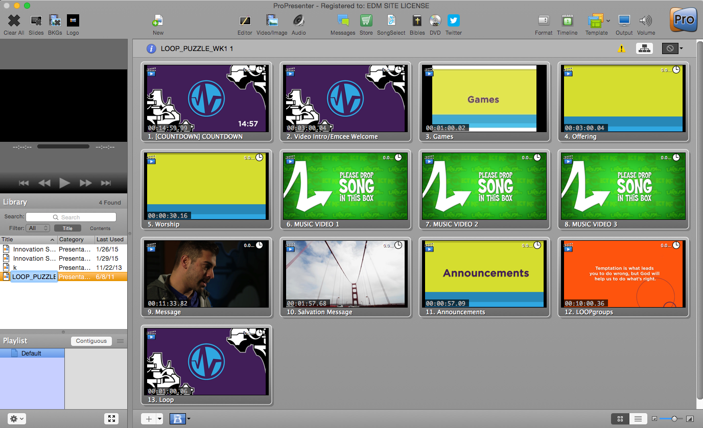 Message (ProPresenter Bundle)