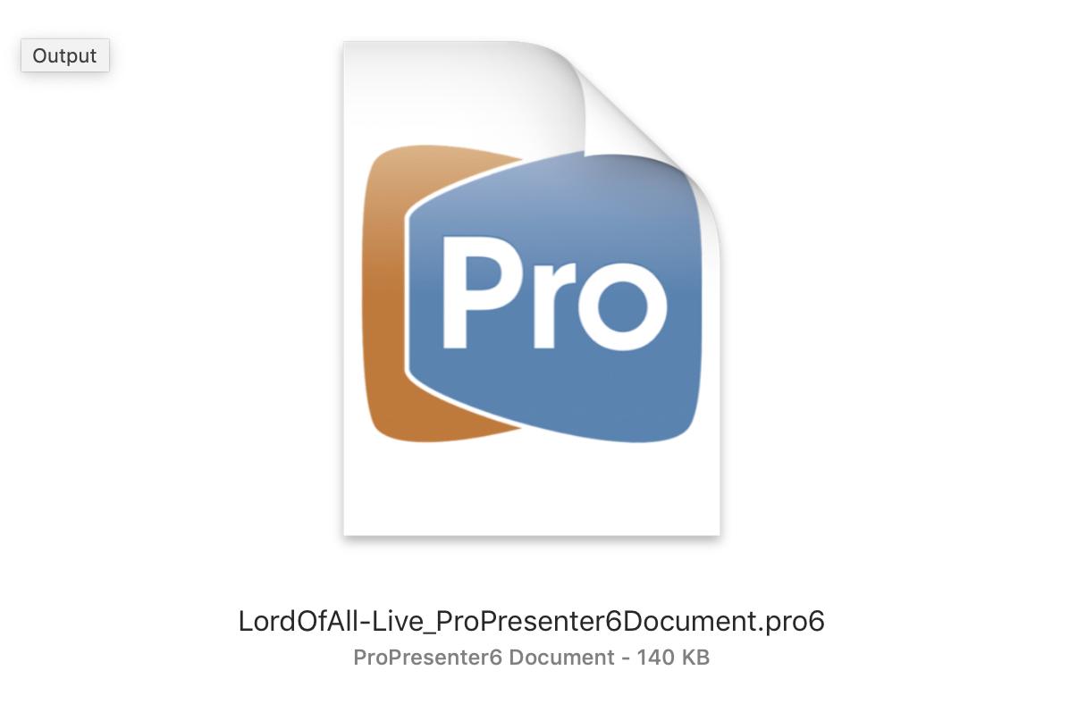 ProPresenter 6 Document (.pro6)