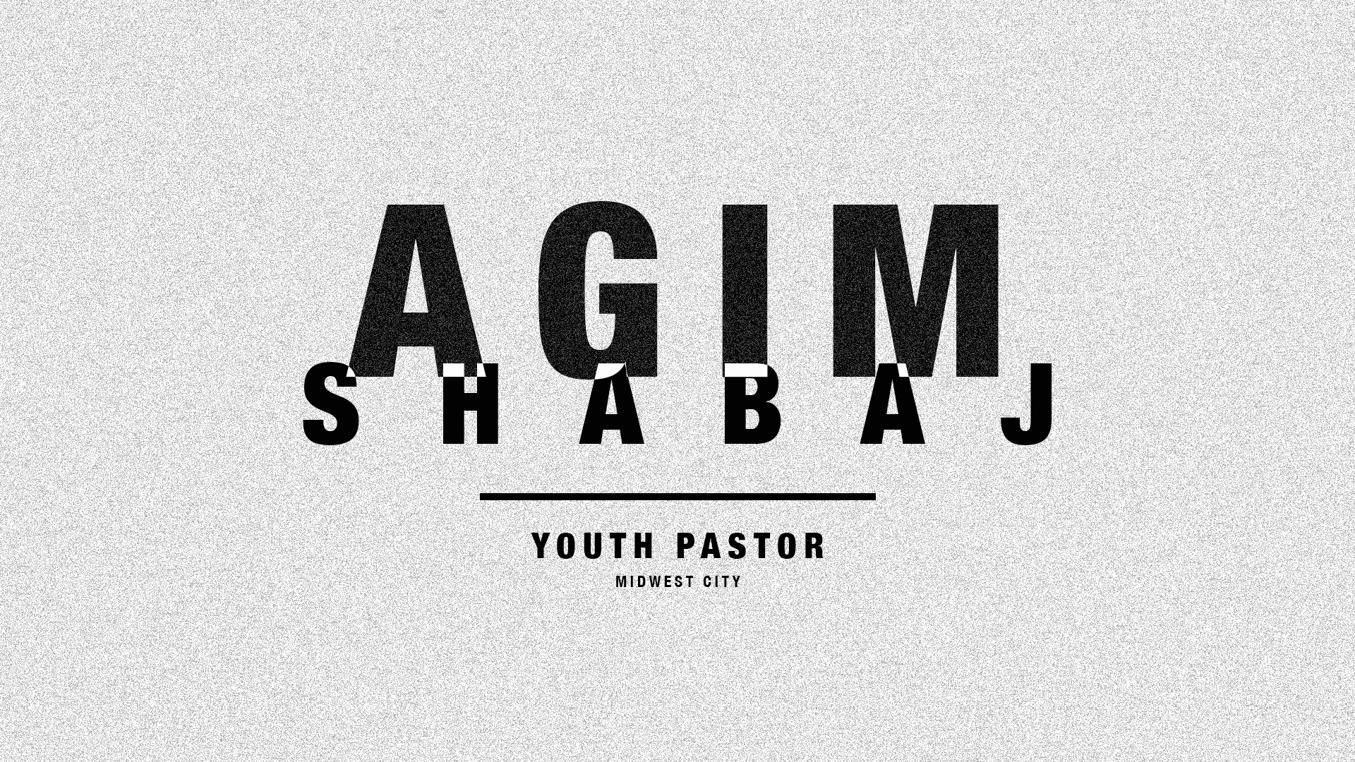 Youth Pastor Slide - white (PSD)