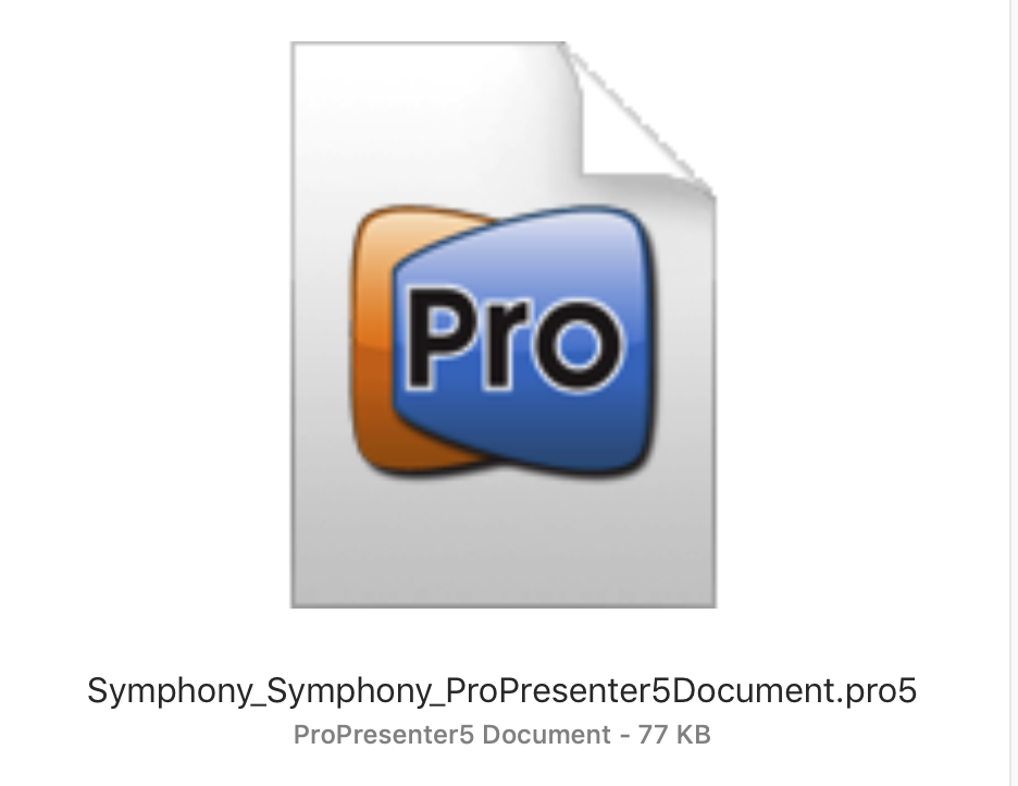 ProPresenter 5 Document (Pro5)