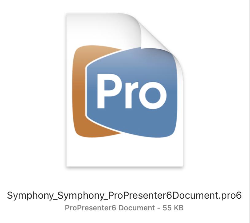 ProPresenter 6 Document (Pro6)